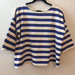 J. Crew Oversized Drop-sleeve Striped T-shirt